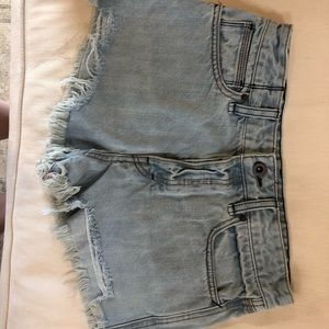 size 27, never worn Free People denim shorts